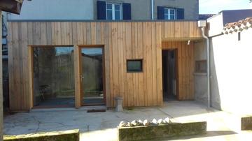 Façade nord bois -  isolation extérieure
